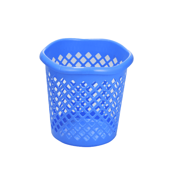 Wave Paper Basket - Blue